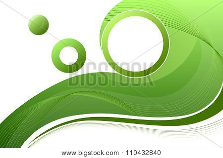 Green circle frame abstract background illustration vector