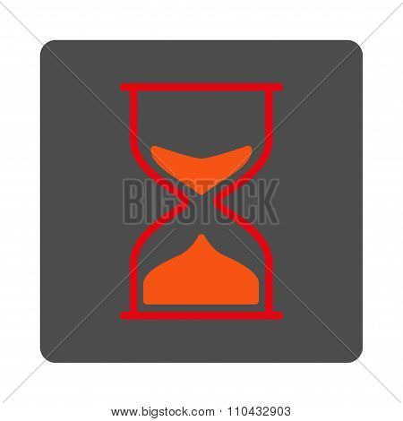 Hourglass Rounded Square Button