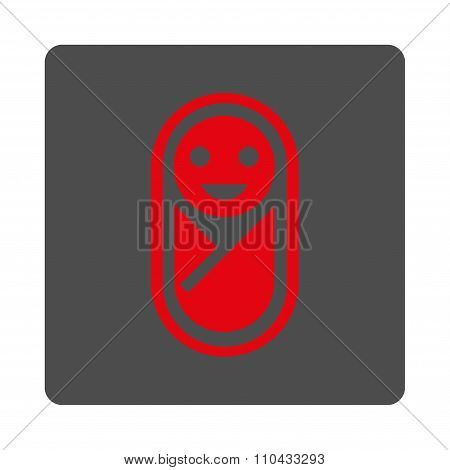 Infant Rounded Square Button
