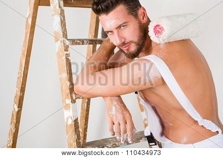 Sexy Bare Chest Painter