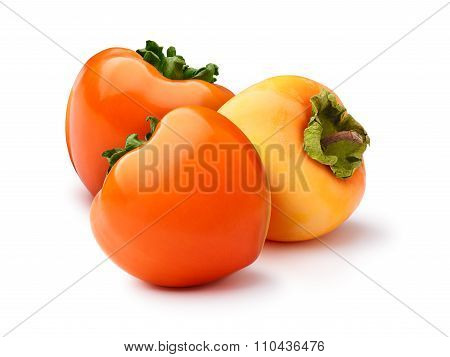 Group Of Persimmons Isolated