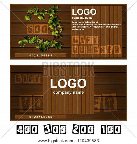 Gift Voucher Wooden Boards
