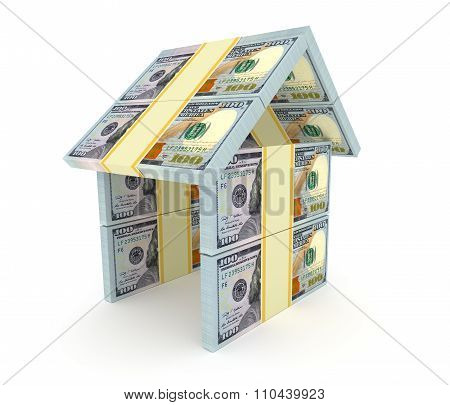 3D House From The Money. Construction