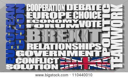 Britain exit from European Union. Brexit
