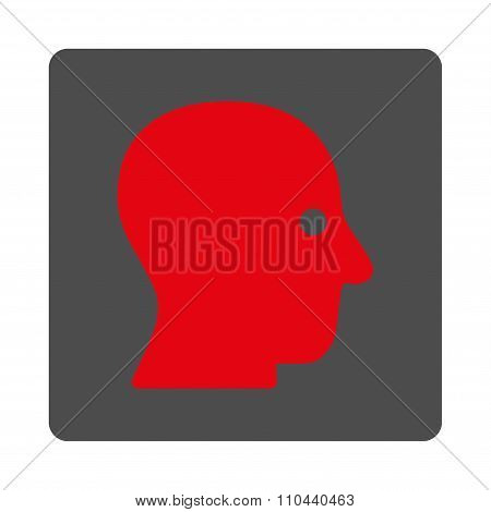 Silent Head Rounded Square Button