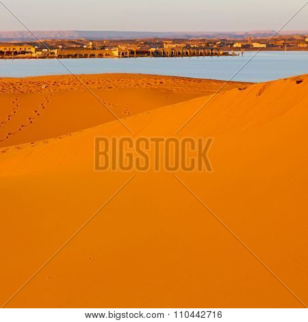 Sunshine In The Lake  Desert Of Morocco Sand And Dune