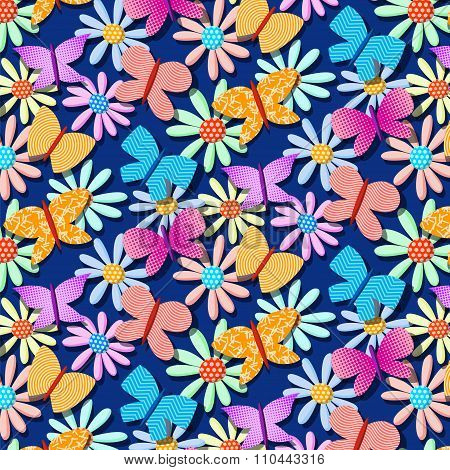 seamless repetitive pattern with butterflies