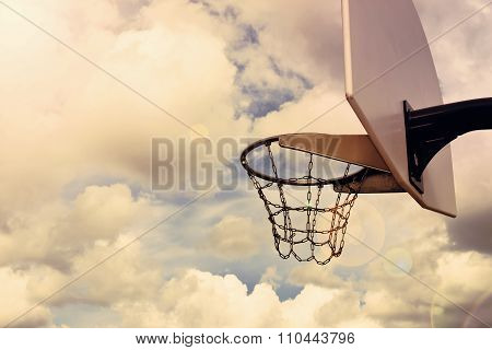 Basketball Hoop And Sky