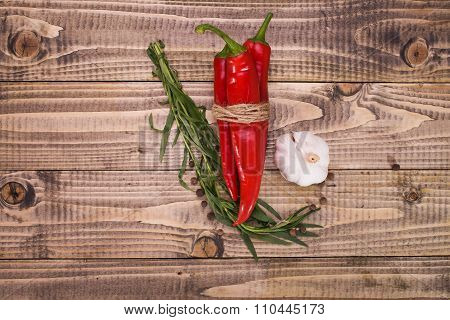 Group Of Vegetables Condiments