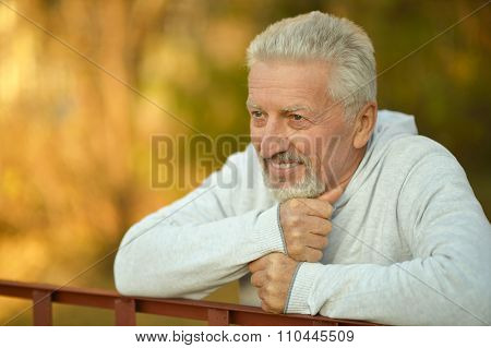 elderly man in park