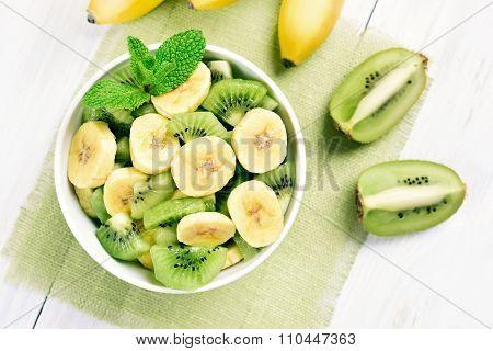 Banana And Kiwi Salad