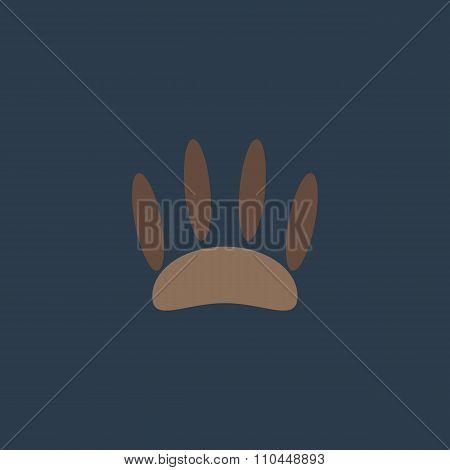 Animal footprint flat icon