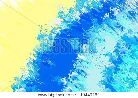 Abstract blue painted background