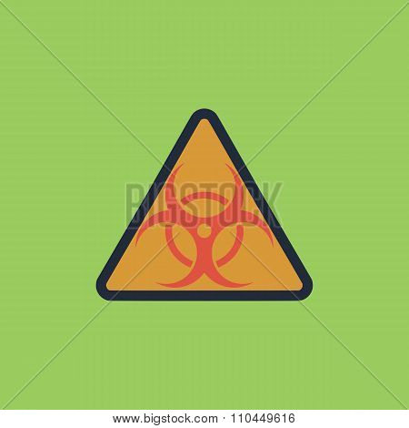 biohazard symbol icon isolated