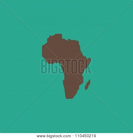 Africa Map - Vector icon isolated