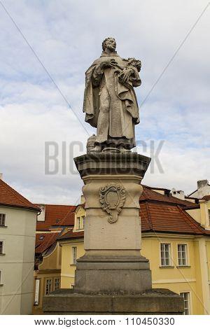 Statue Of Saint Philip Benizi De Damiani On Charles Bridge In Pr