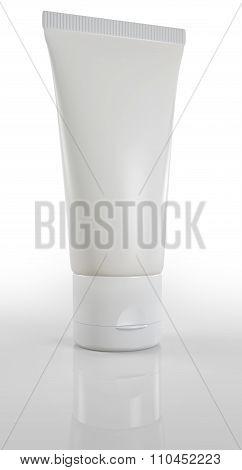 blank cream tube