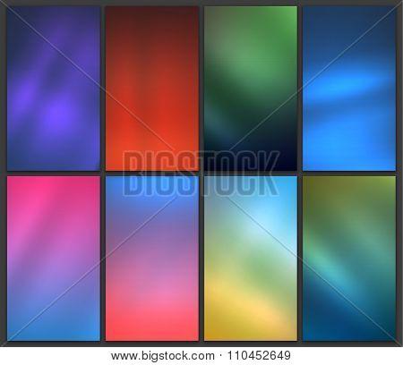 Blurred backgrounds set
