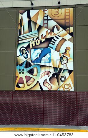 Artwork Outside the Cinemark Theater