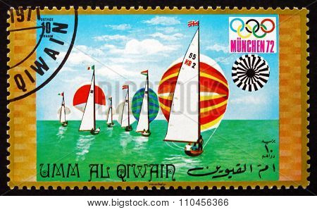 Postage Stamp Umm Al-quwain 1971 Sailing