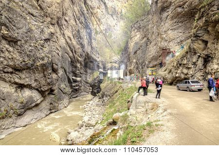 Chegem Gorge. Mountain Landscape
