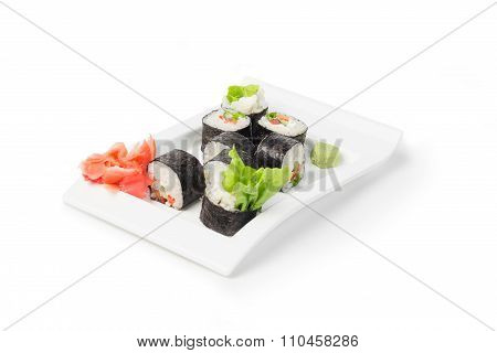 Japanese Sushi Maki On White