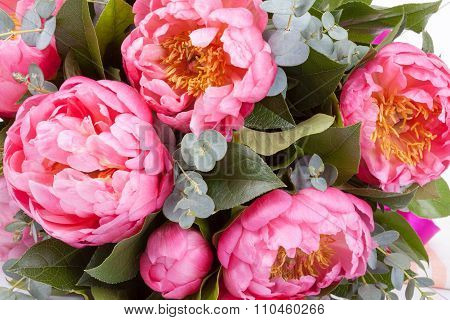 Amazing Bouquet Of Pink Pions