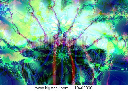 Multicolored Abstract Fractal