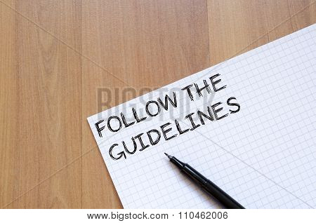 Follow The Guidelines Write On Notebook