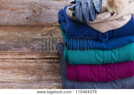 set of woolen clothes