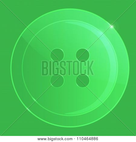 Glass Transparent Vector Sewing Button