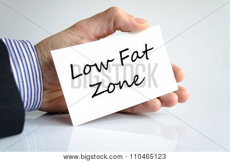 Low Fat Zone Text Concept