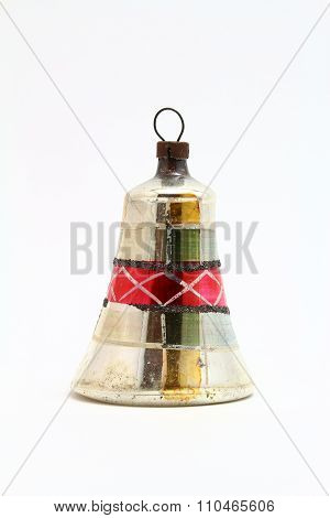 Antique Christmas bell ornament