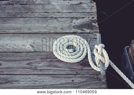 White Coiled Rope.