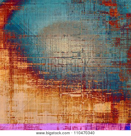 Art grunge vintage textured background. With different color patterns: yellow (beige); brown; blue; red (orange)