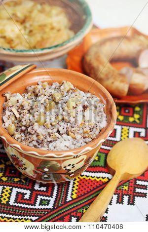 ukrainian Christmas kutia dish