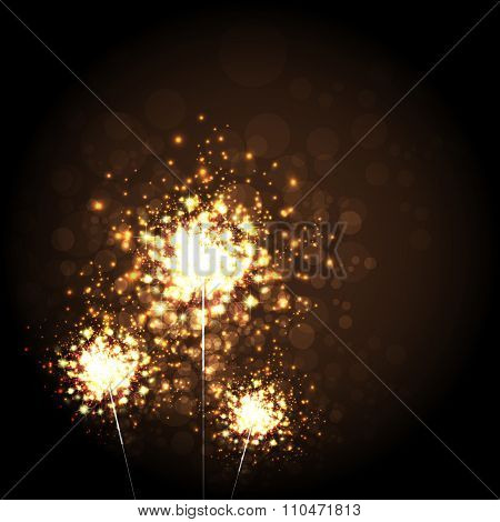 Christmas Sparkler Background
