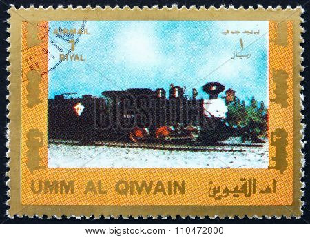 Postage Stamp Umm Al-quwain 1972 Steam Locomotive