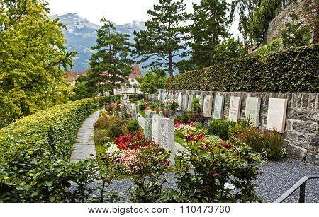 Cemetery in Chur, Switzerland