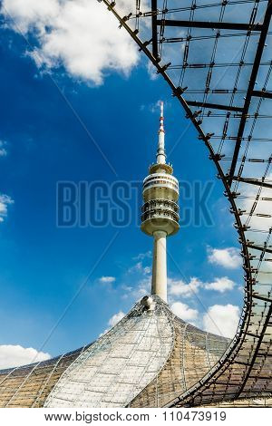 Olympic Tower At Olympic Park, Munich, Bavaria, Germany