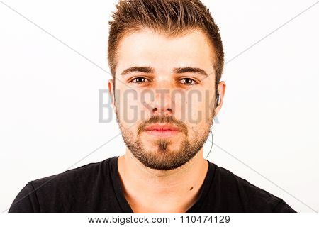 Portrait Of A Young Man With 3-days Beard