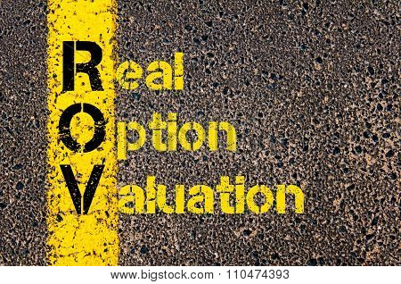Accounting Business Acronym Rov Real Option Valuation