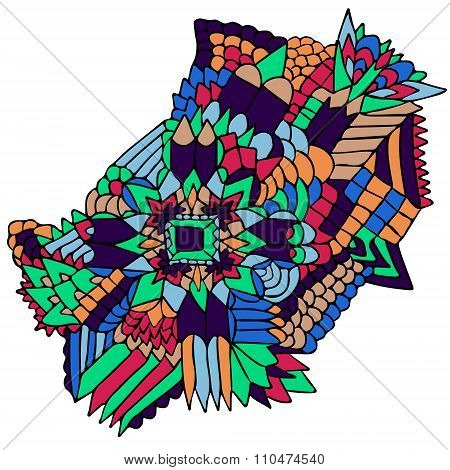 Zentangle Elements Figure Simple Colorful 2