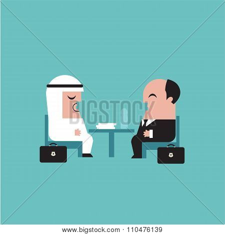 Businessmen vector illustration
