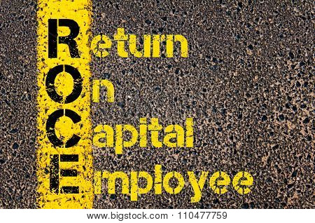 Accounting Business Acronym Roce Return On Capital Employee