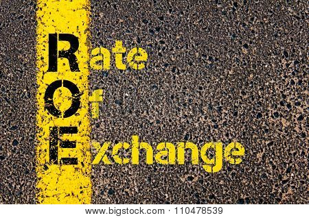 Accounting Business Acronym Roe Rate Of Exchange