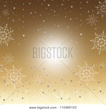 Winter Gold Background