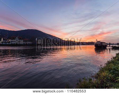 Sunset In Heidelberg