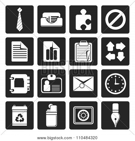 Black Simple Business and Office Icons