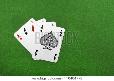 Four Of A Kind Aces Poker,